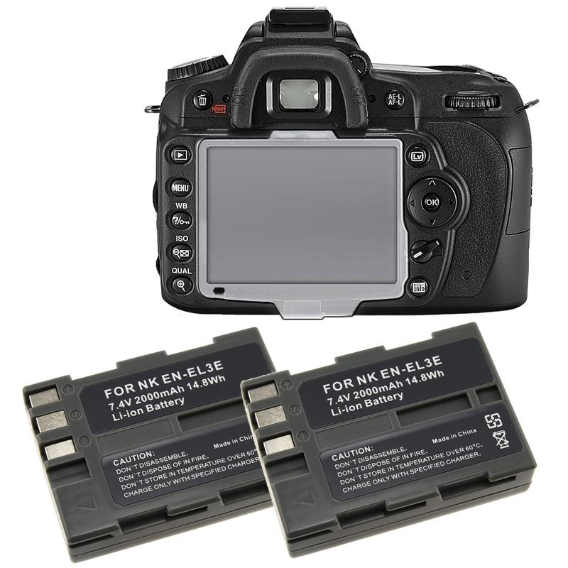 INSTEN Batteries/ Screen Protector Cover for Nikon D90