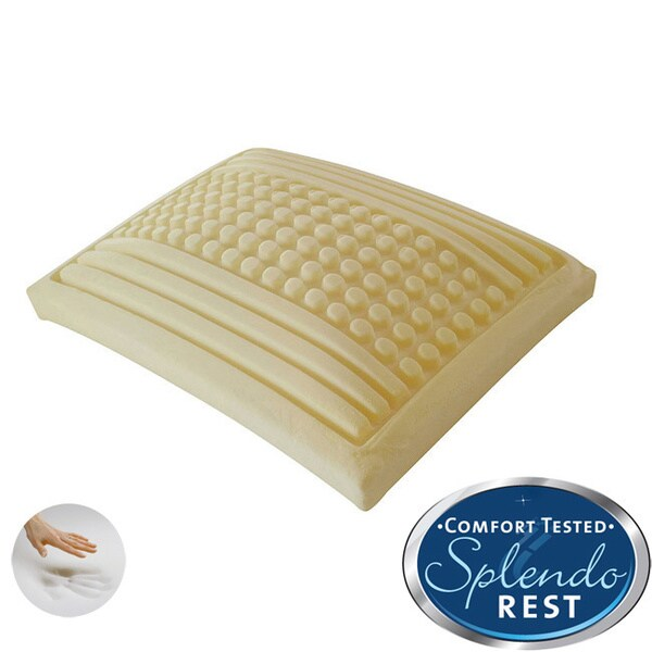 Splendorest 'Perfect' Dots and Stripes Gusseted Memory Foam Pillow