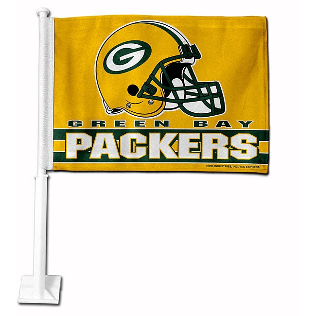 Green Bay Packers 19-inch Car Flag