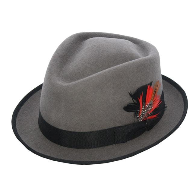 Ferrecci Men's 'Detroit' Grey Fedora Hat