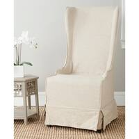Safavieh En Vogue Dining Deco Bacall Ivory Slip Cover Dining Chair