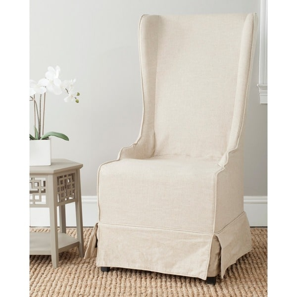 Safavieh En Vogue Dining Deco Bacall Ivory Slip Cover Side Chair