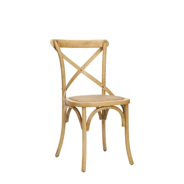 safavieh country classic dining bradford x back oak dining chairs set of 2 free shipping today