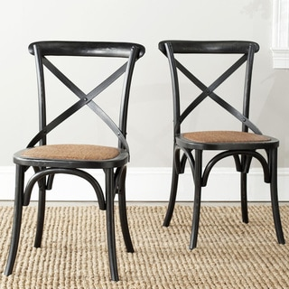 Link to Safavieh Franklin X-Back Black Dining Chair (Set of 2) Similar Items in Dining Room & Bar Furniture