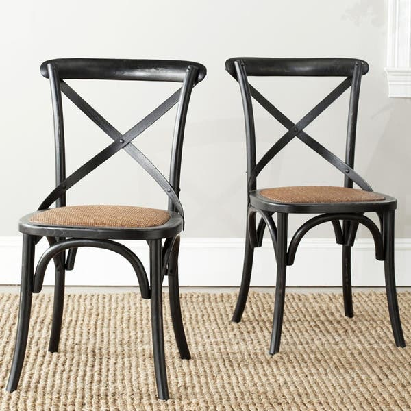 Safavieh Franklin X Back Black Dining Chair Set Of 2 On Sale Overstock 20602768