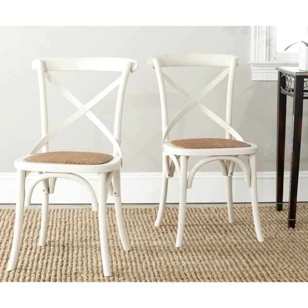 Shop Safavieh Country Classic Dining Bradford X Back Antiqued White