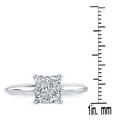 14k White Gold 1ct TDW Clarity-enhanced Diamond Solitaire Engagement Ring (G-H, SI2-SI3) - Thumbnail 2