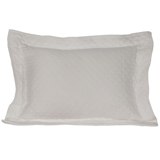 Diamante White Boudoir Pillow
