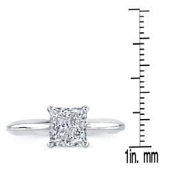 14k White Gold 1/2ct TDW Clarity-enhanced Diamond Solitaire Ring (G-H, SI2-SI3) - Thumbnail 2