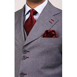 Ferrecci Men's Six-Button Urban Grey Suit