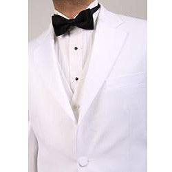 Ferrecci Men's White Three Piece Tuxedo - Thumbnail 1