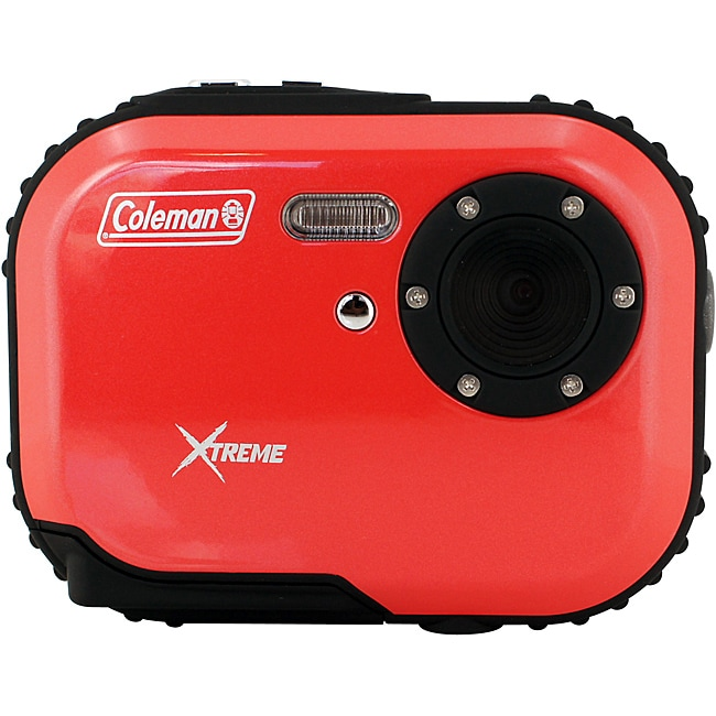 Coleman Mini Xtreme C3WP-R 5MP Waterproof Red Digital Camera - Thumbnail 0