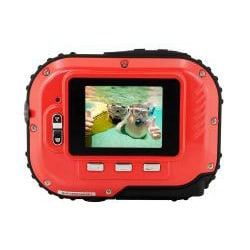 Coleman Mini Xtreme C3WP-R 5MP Waterproof Red Digital Camera - Thumbnail 1