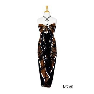 1 World Sarongs Women's Plus Size Tie Dye Sarong (Indonesia)