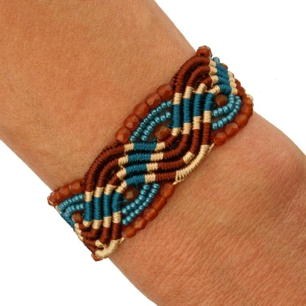 Lucia Indian Summer Macrame Bracelet (Guatemala)