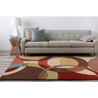 Hand-tufted Contemporary Multi Colored Circles Scottsdale Wool Geometric Rug (7'6 x 9'6)