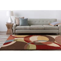 Hand-tufted Contemporary Multi Colored Circles Scottsdale Wool Geometric Area Rug - 7'6 x 9'6