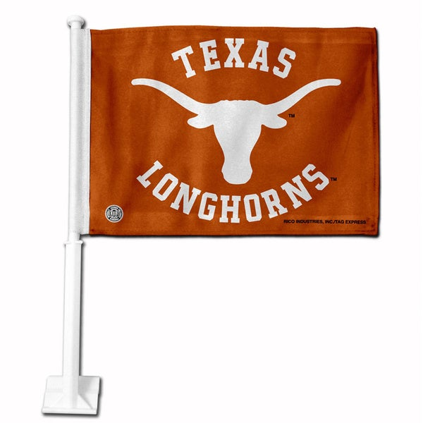 Texas Longhorns 19-inch Car Flag