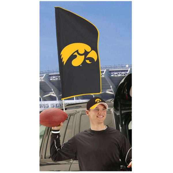 Iowa Hawkeyes Tailgating Flag