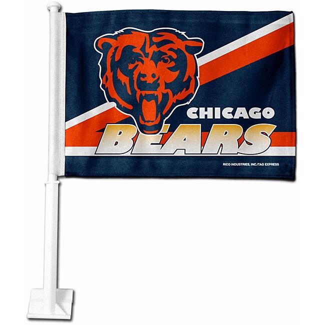 Chicago Bears 19-inch Car Flag
