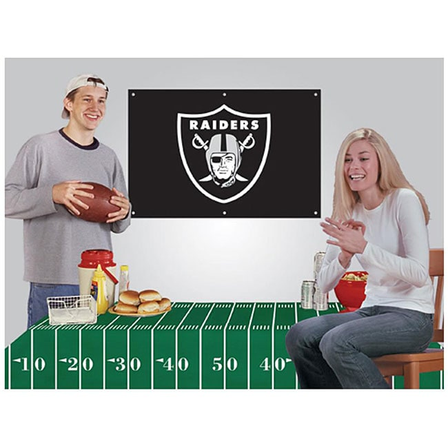 Oakland Raiders NFL Football Party Kit