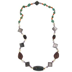 Pearlz Ocean Multi-gemstone 32-inch Necklace Jewelry for Womens