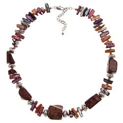 Pearlz Ocean 18-inch Jasper Necklace Jewelry for Womens