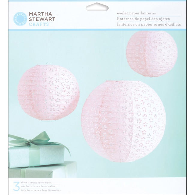 Martha Stewart Vintage Pink Girl Paper Lanterns Kit