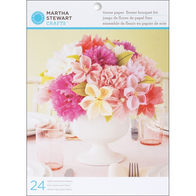 Martha Stewart Vintage Girl Tissue Paper Flowers Kit