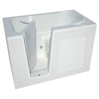 Meditub White 54-inch Left-hand Walk-in Air Tub