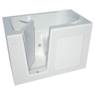 Meditub 54 Inch Lefthand White Walk In Combo Tub