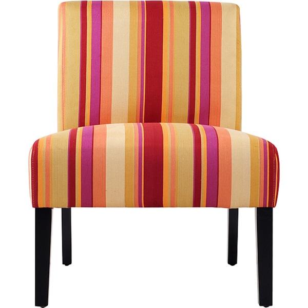 Portfolio Niles Striped Armless Accent Chair