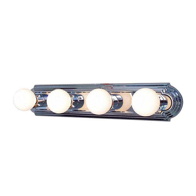 Woodbridge Lighting Basic 4-light Chrome Bath Bar Fixture