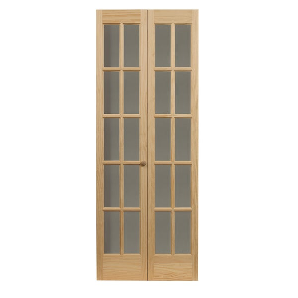 Traditional Divided Glass 36x80.5-inch Unfinished Bifold Door  sc 1 st  Overstock & Shop Traditional Divided Glass 36x80.5-inch Unfinished Bifold Door ...