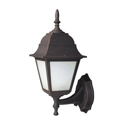 Woodbridge Lighting Basic 1-light Powder-coat Rust Outdoor Wall Light