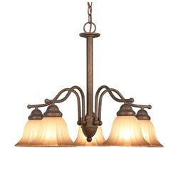 Woodbridge Lighting Morgan Park 5-light Marbled Bronze Chandelier - Thumbnail 0