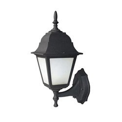 Woodbridge Lighting Basic 1-light Powder-coat Black Outdoor Wall Light