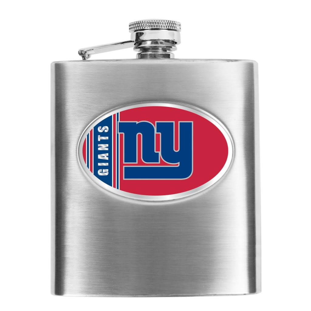 New York Giants 8-oz Stainless Steel Hip Flask