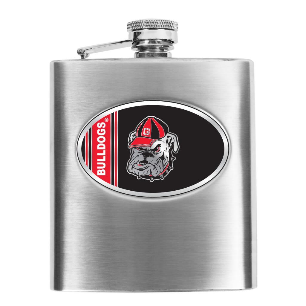 Georgia Bulldogs 8-oz Stainless Steel Hip Flask