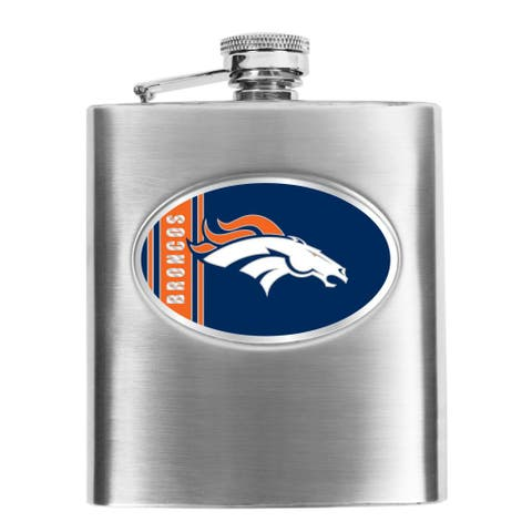 Denver Broncos 8-oz Stainless Steel Hip Flask