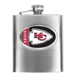 Kansas City Chiefs 8-oz Stainless Steel Hip Flask - Thumbnail 0