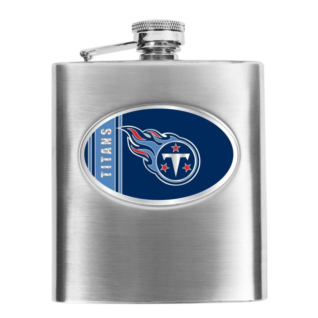 NFL Tennessee Titans 8-oz Stainless Steel Hip Flask