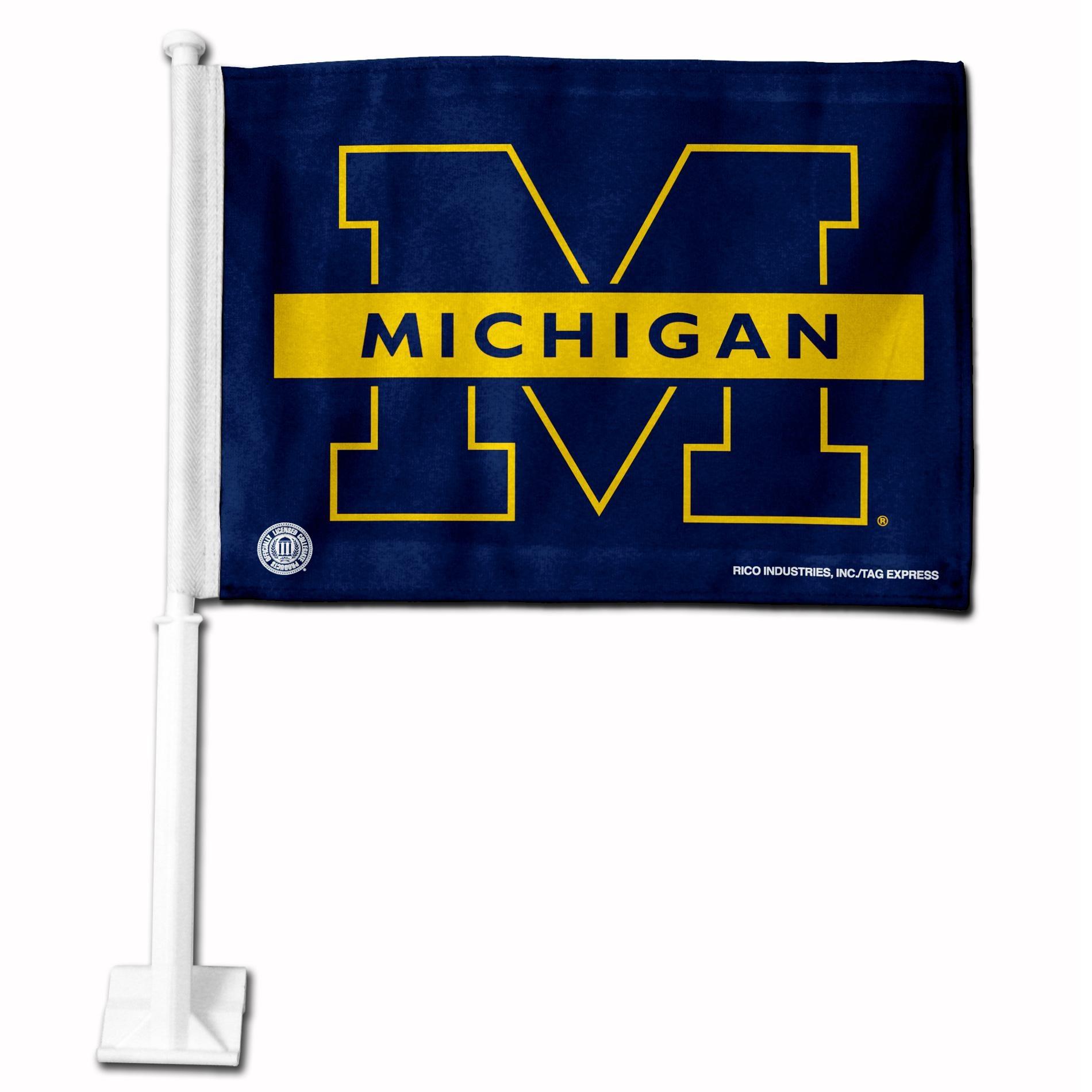 Michigan Wolverines 19-inch Car Flag