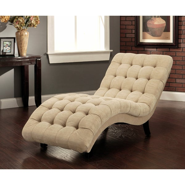 Abbyson soho beige fabric chaise free shipping today for Abbyson living soho cream fabric chaise