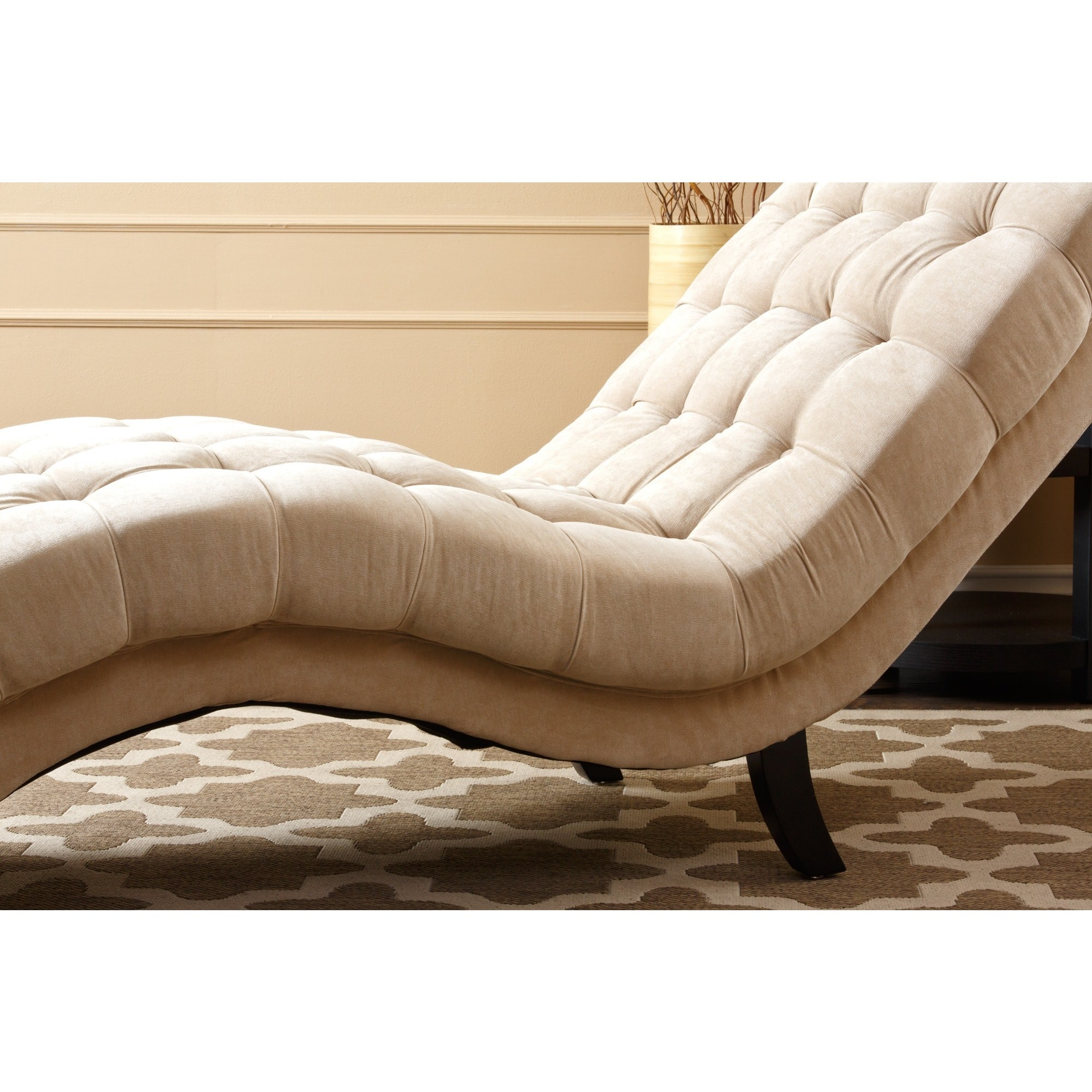 Living room chairs for less for Abbyson living soho cream fabric chaise