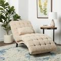 ABBYSON LIVING Soho Cream Fabric Chaise