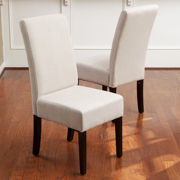 t stitch natural linen dining chairs set of 2 by
