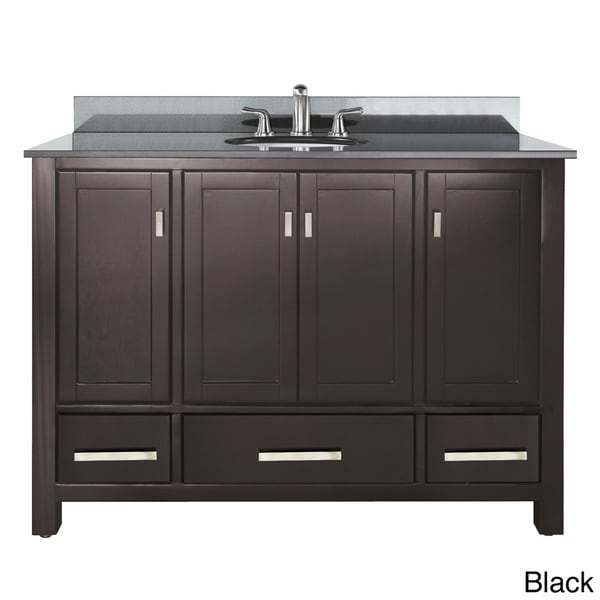 Avanity Modero 48 Inch Single Vanity In Espresso Finish With Sink And Top Free Shipping Today