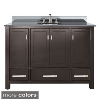 Avanity Modero 48-inch Single Vanity in Espresso Finish with Sink and Top