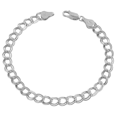 Fremada 14k White Gold 5-mm Charm Bracelet (7.25-inch)